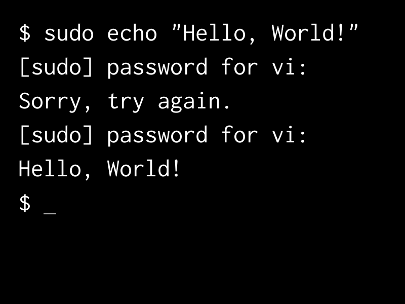 Sudo Command Password Prompt